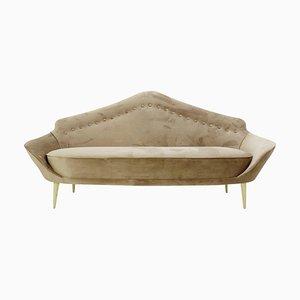 Pointed Back Italian Sofa