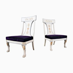 Russian Style Easy Chairs, Belgium, 20th-Century, Set of 2