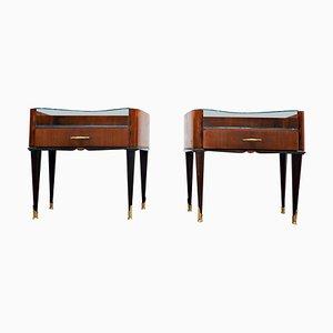 Nightstands in the Style of Osvaldo Borsani, Set of 2