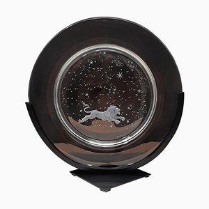 Assiettes Constellation en Cristal par Don Wier pour Steuben Glass, Set de 12