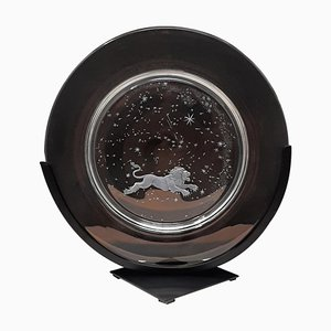 Constellation Crystal Plates by Don Wier for Steuben Glass, Set of 12