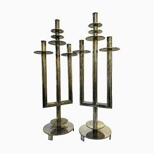 Modernist Candle Holders, 1940s, Set of 2