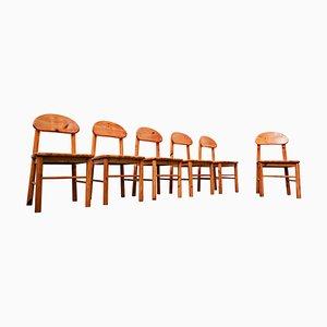 Pitchpin Stühle von Rainer Daumiller, 1970er, 6er Set