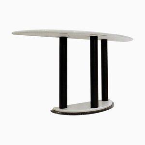 Table Console Demi-Lune en Marbre de Style Ettore Sottsass