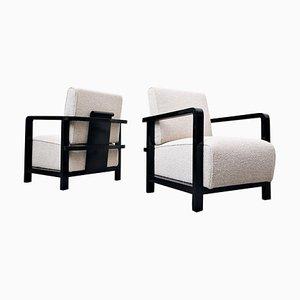 Art Deco Club Chairs, Set of 2