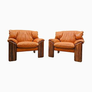 Italian Armchairs by Sapporo for Mobil Girgi, 1970s, Set of 2