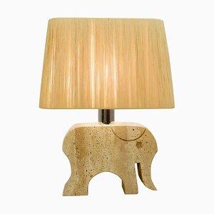 Travertin Elefant Tischlampe von Fratelli Mannelli, Italien, 1970er