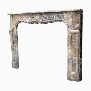 Louis XV Fireplace in Waulsort Marble, 18th Century