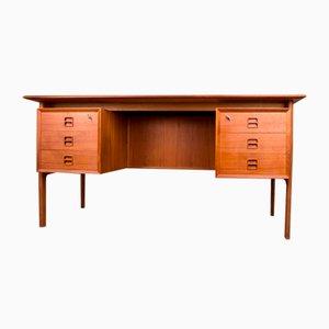 Dänischer Doppelseitiger Schreibtisch aus Teak von Arne Vodder für Sibast, 1960er