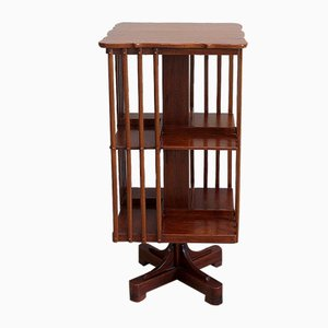 Revolving Bookcase in Solid Teak, Early 20th Century