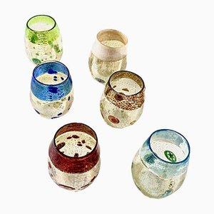 Italienische Vintage Botticelli Murano Glas Gläser, 6er Set