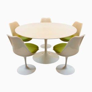 Ensemble de Salle à Manger Tulip de 5 Chaises avec Table par Eero Saarinen pour Knoll International, 1970s, Set de 6
