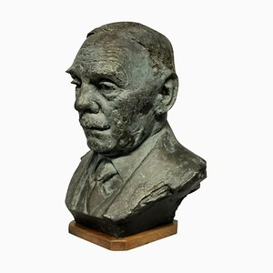 Bronze Büste im Stile von Jacob Epstein
