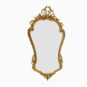 Antiker Massiver Messing Spiegel im französischen Stil