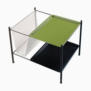 Green and Black Gazetta Magazine Rack by Tjerk Reijenga for Pilastro, 1950s