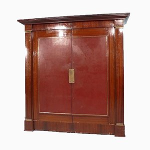Large French Art Deco Bookcase Cabinet in the Style of Dupré-Lafon