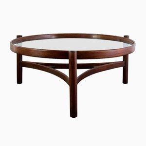 Tavolino da caffè nr. 775 in noce, faggio tinto e legno curvo di Gianfranco Frattini per Cassina, 1964