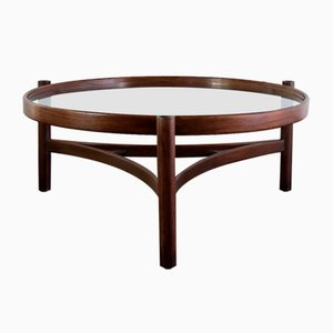 Walnut, Stained Beech & Bentwood 775 Coffee Table by Gianfranco Frattini for Cassina, 1964