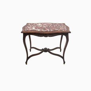 Antiker Tisch im Rokoko-Stil mit Steinplatte, 1900er