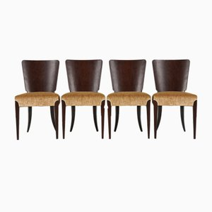 Model H 214 Dining Chairs by Jindřich Halabala, 1930s, Set of 4