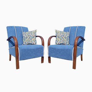 Czech Art Deco Lounge Chair by Jindřich Halabala for UP Závody, 1930s, Set of 2