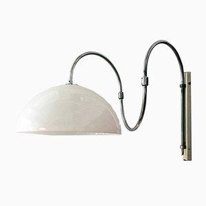 Italienische Verstellbare Italienische Mid-Century Modern Wandlampe aus Verchromten Stahl, 1970er