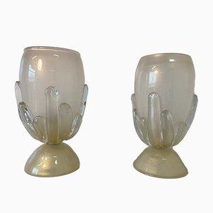 Große Murano Glas Tischlampen, Italien, Set of 2
