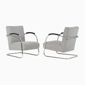 Cantilever Armchairs from Mücke & Melder, 1930s, Set of 2