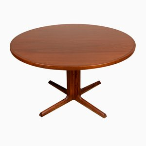 Large Danish Dining Table in Rosewood with Central Leg from Gudme Mobelfabrik