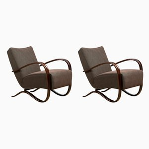 H-269 Lounge Chairs by Jindřich Halabala, 1940s, Set of 2