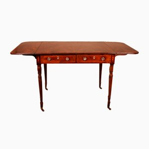 Mahagoni Schreibtisch mit Klappen, 19. Jh