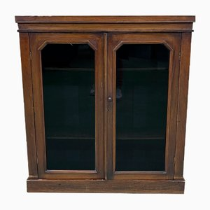 Small Victorian Walnut Showcase Cabinet, 19th Century