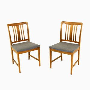 Chairs in Walnut, Sweden, 1960s, Set of 2
