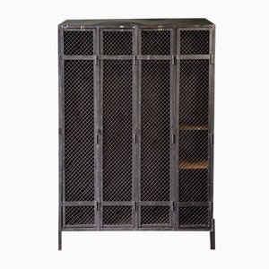Industrial Metal Mesh Locker with 4 Doors