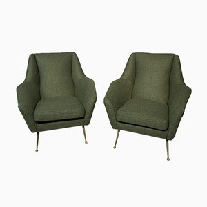 Armchairs in Bouclé Fabric, 1950s, Set of 2