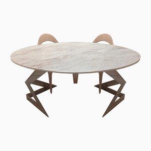 Elfenbeinfarbener Diamond Tisch von Element & Co.