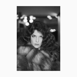 Imprimé Pigmentaire d'Encre Jane Birkin Encadré en Blanc par Giancarlo Botti