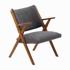 Armchair with Gray Fabric by Dal Vera, 1960s