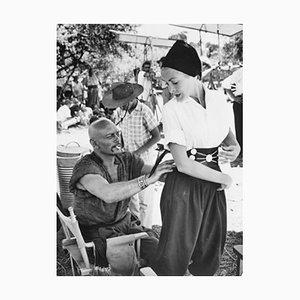 Yul Brynner und Janet Leigh Archivdruck in Schwarz von Bettmann