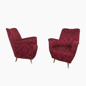 Armchairs from ISA Bergamo, 1950s, Set of 2