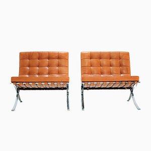 Chaises Barcelona Vintage par Ludwig Mies Van Der Rohe pour Knoll Inc. / Knoll International, Set de 2