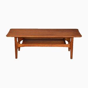 Table Basse à 2 Niveaux Mid-Century en Teck, 1960s