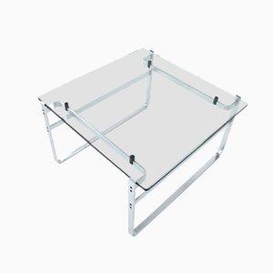 Tavolo modello 700 in metallo cromato e vetro di Preben Fabricius per Walter Knoll