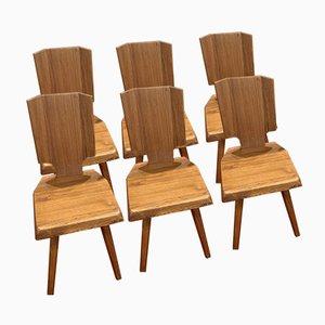 Chaises S28 par Pierre Chapo, 1960s, Set de 6