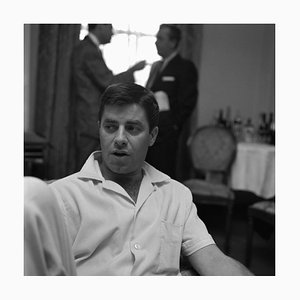 Jerry Lewis Archival Pigment Print Framed in White by Harry Hammond