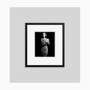 Joan Crawford Archival Pigmentdruck in Schwarz von Alamy Archiv gerahmt