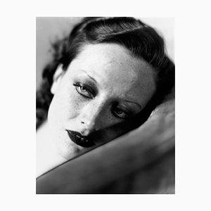 Imprimé Pigmentaire Joan Crawford Encadré en Blanc