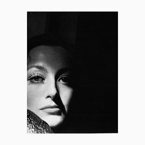 Archivierter Joan Crawford Pigmentdruck-Druck in Schwarzem