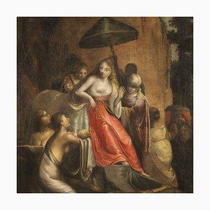 Antike Italienische Biblische Malerei der Auffindung von Moses, 18. Jahrhundert