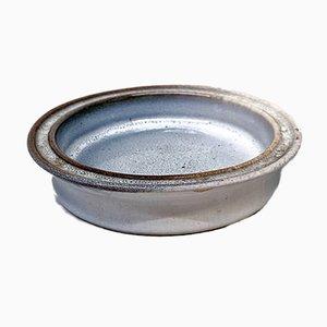 Italienischer Mid-Century Modern Grau Glasierter Keramik Aschenbecher von Bucci, 1960er